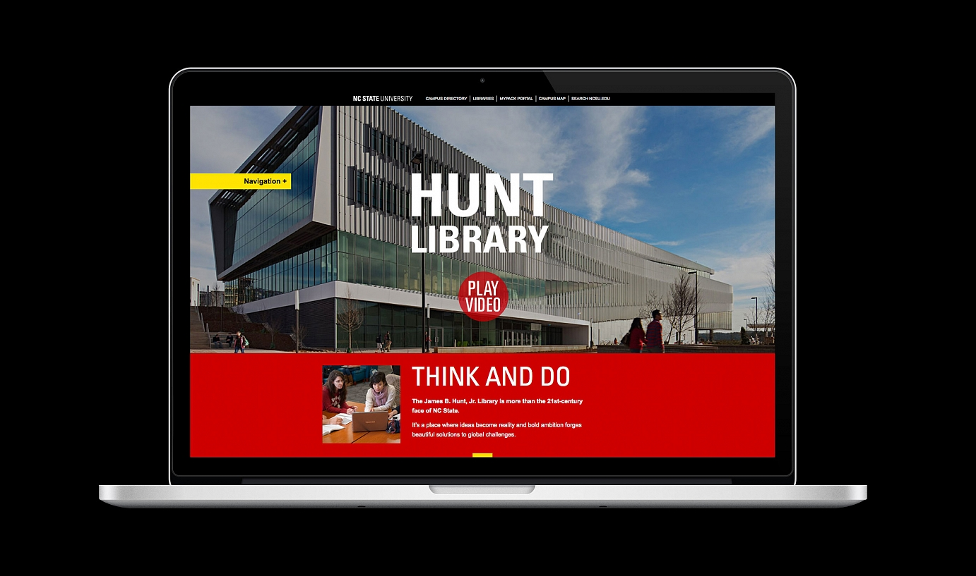 Picture of Hunt Library website