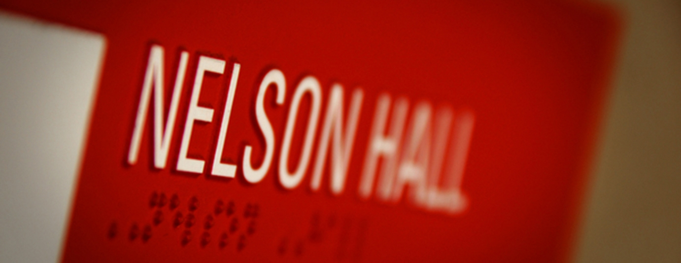 Building Sign - Nelson Hall