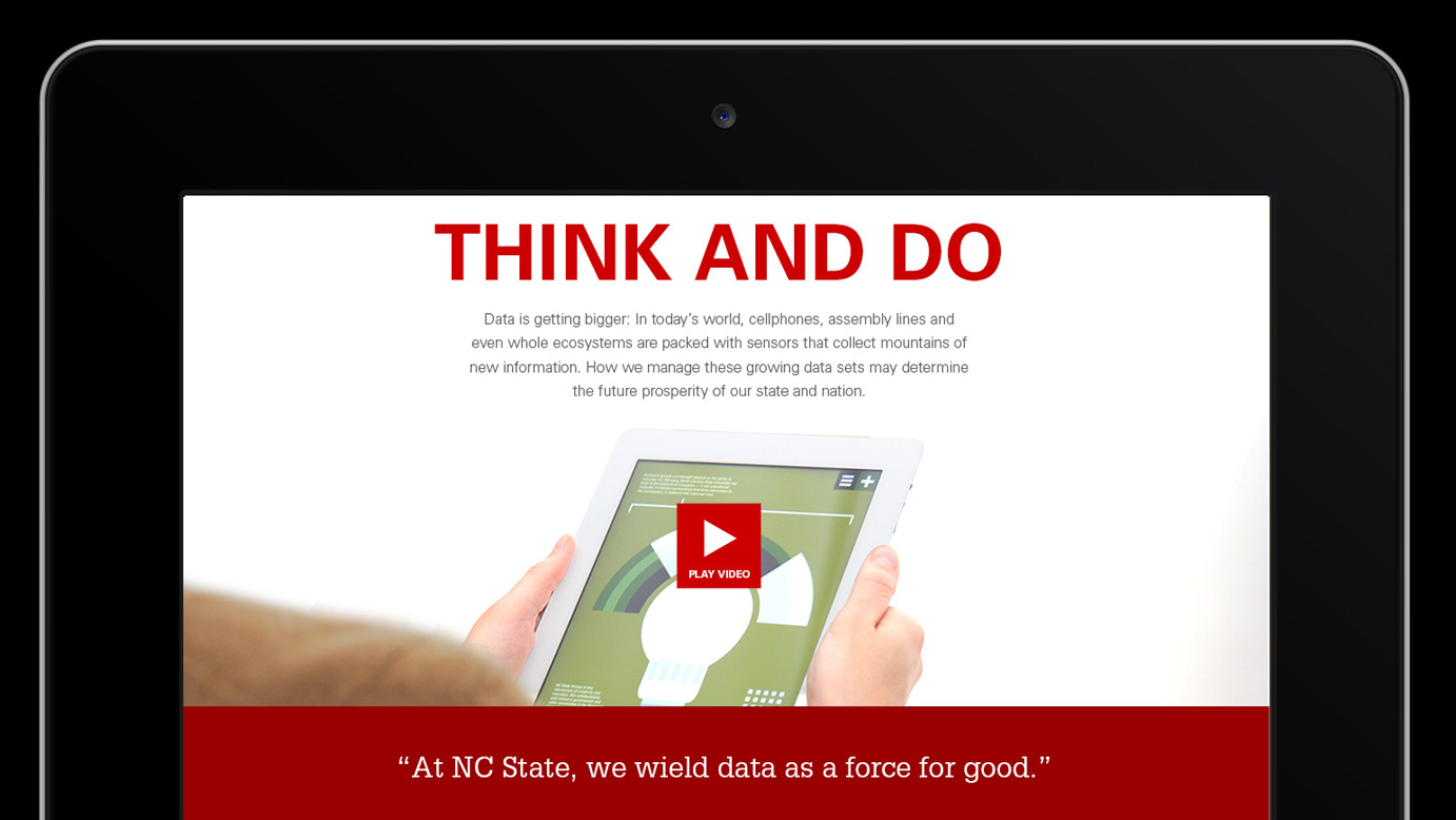 Screencap of the top of the Think and Do site