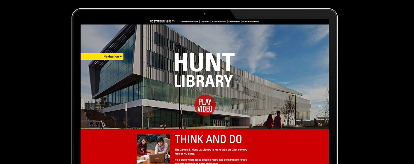 Hunt Library Microsite